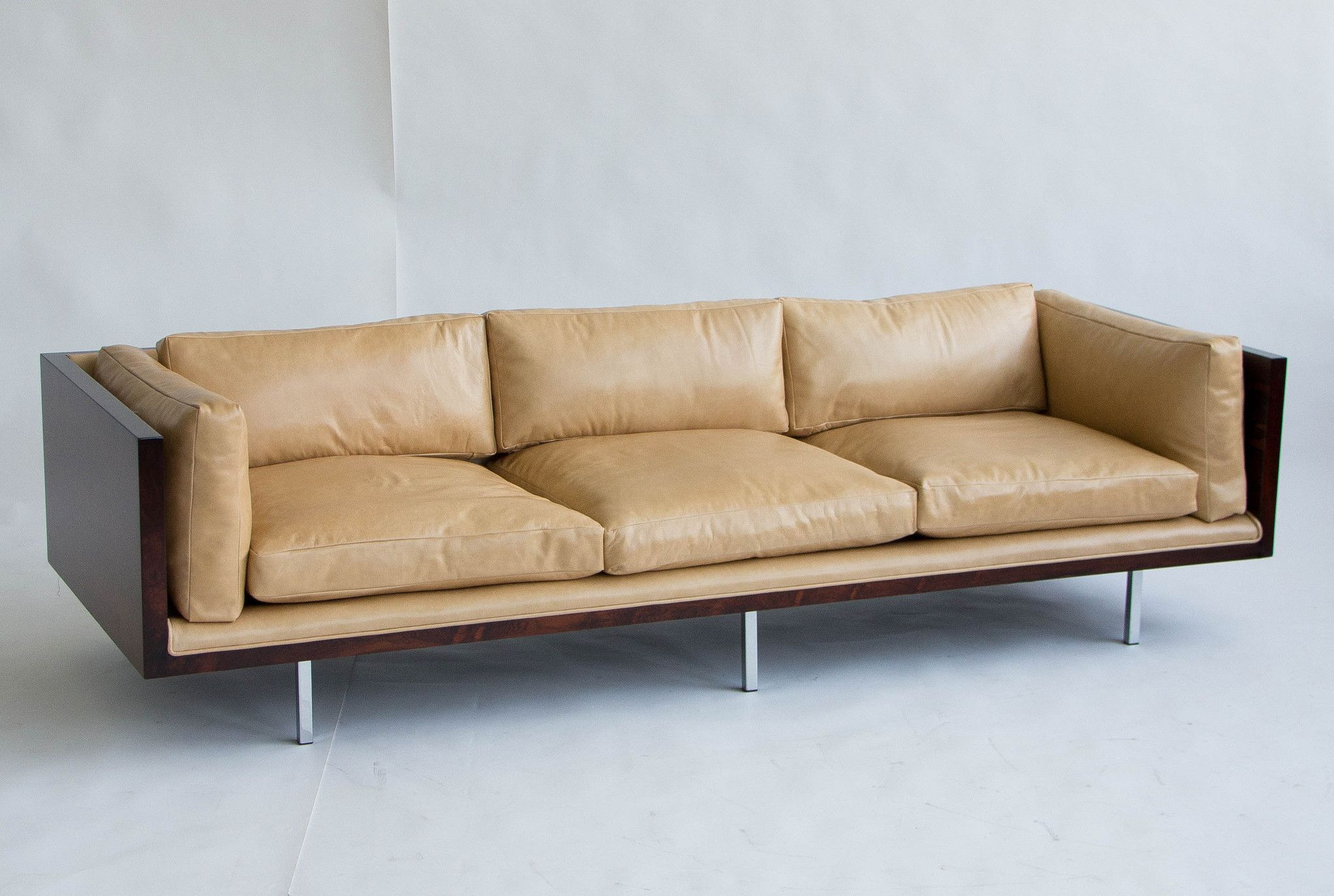 Milo Baughman Rosewood And Leather Case Sofa U2013 Den Møbler