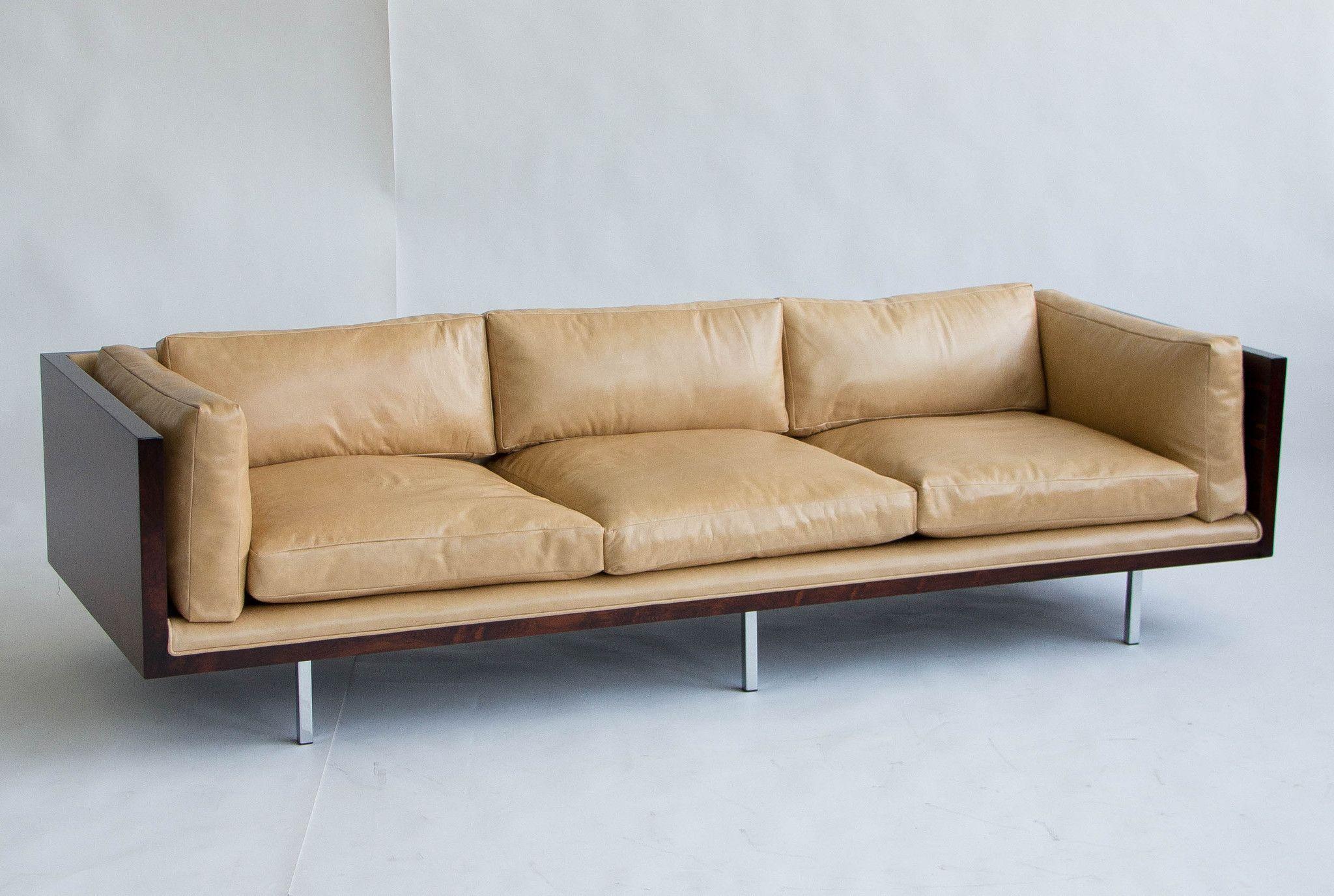 Exceptional Milo Baughman Rosewood And Leather Case Sofa U2013 Den Møbler