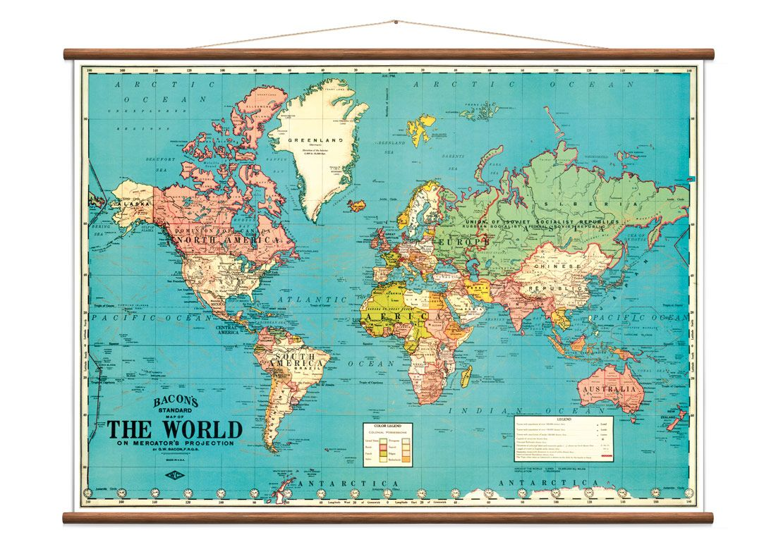 Vintage World Map By Lander On Crowdyhouse Unique Design