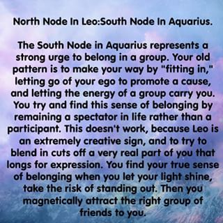 true node astrology leo