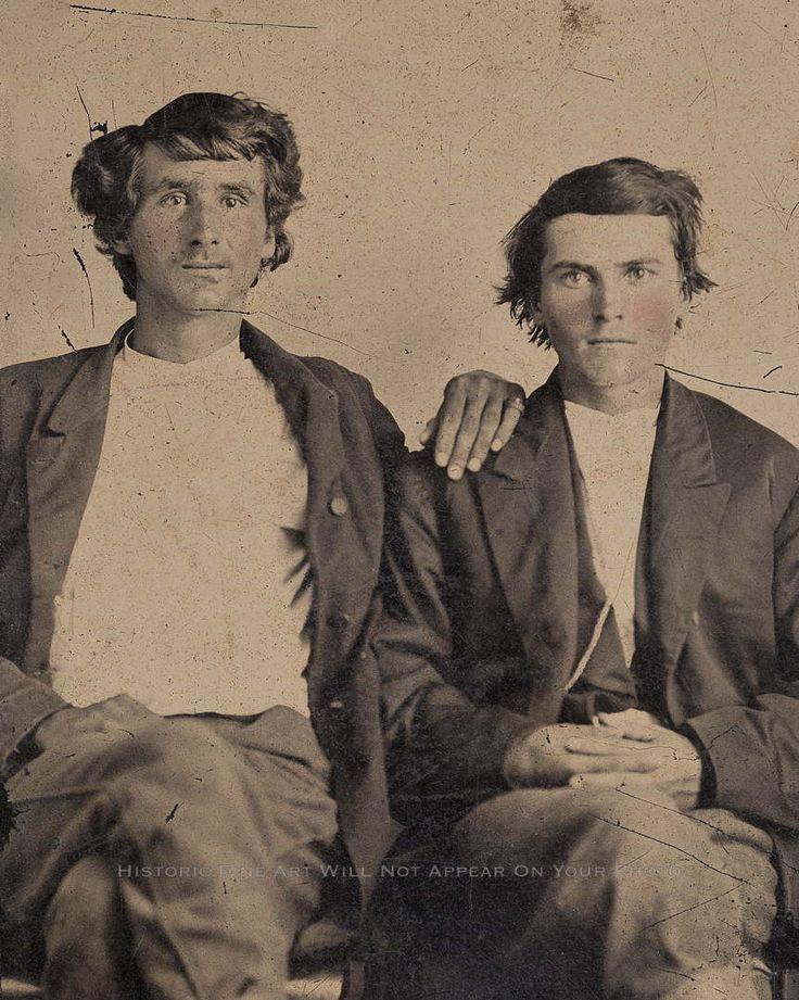 Jesse And Frank James Rare Photo Quantrill Raiders Guerrillas