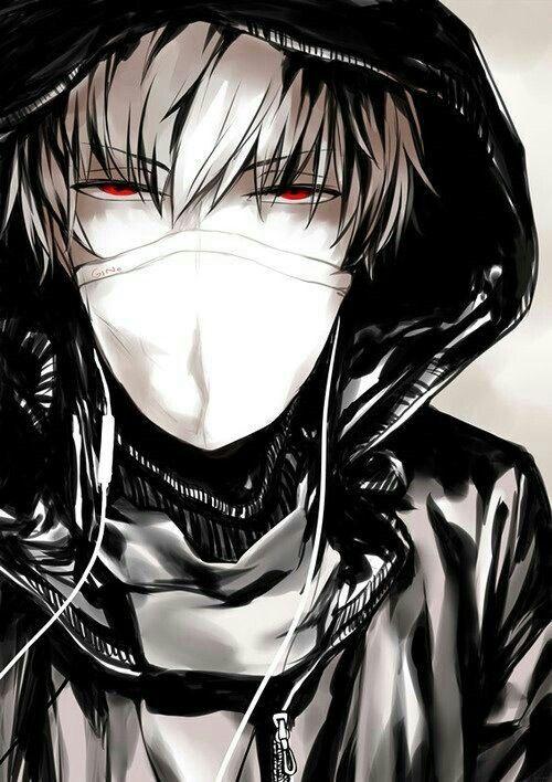 Anime Boy Mask Red Eyes Hoodie Earphones Cool Anime Guys Cute Anime Guys Dark Anime Anime Boy