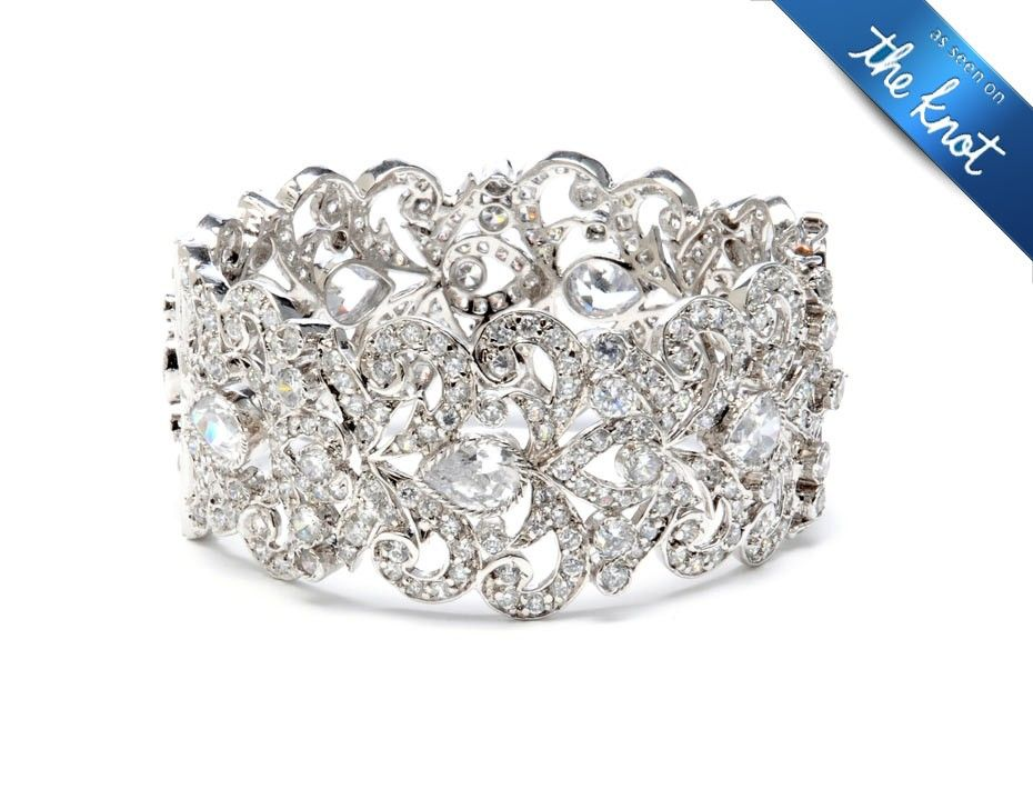 classic openable bracelet b0818 wedding bracelets bridal Wedding Jewelry Tejani classic openable bracelet b0818 wedding bracelets bridal jewelry tejani wedding jewelry tejani