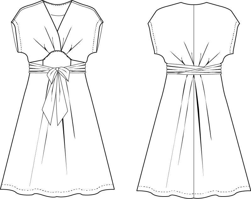 Akinori Kimono Dress Curvy   Patrones y Costura