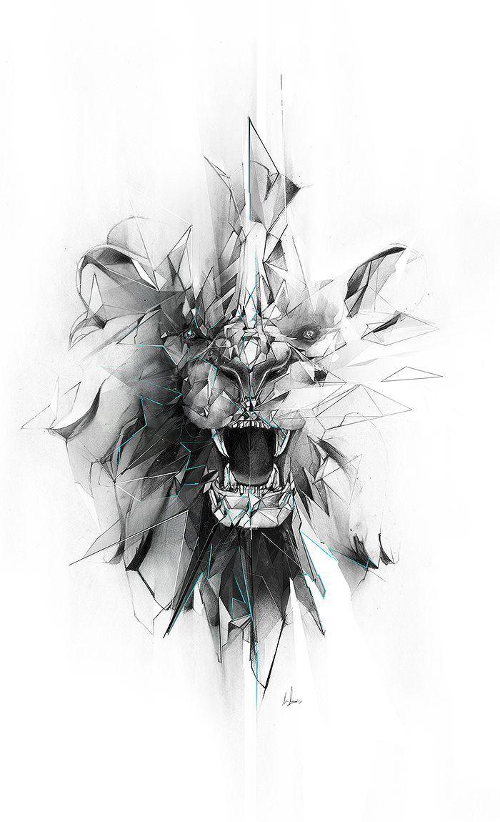 Unique Lion Art Design