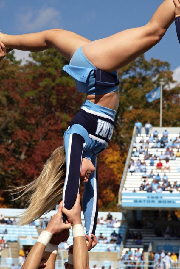 dc97bf220880 UNC Cheerleader | cheerleading | Cheerleading, College cheerleading ...