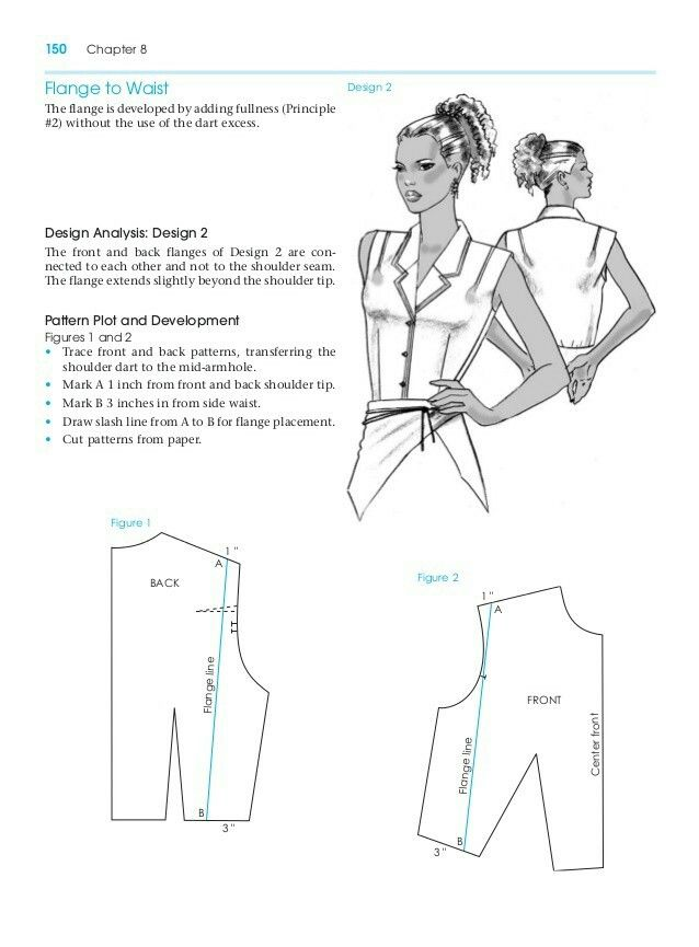 Flanges To Waist Pattern Making For Fashion Design Learn To Make