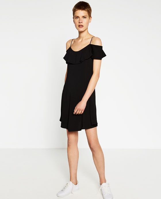 f9710f46b477d ZARA - WOMAN - DRESS WITH FRILLY SLEEVES