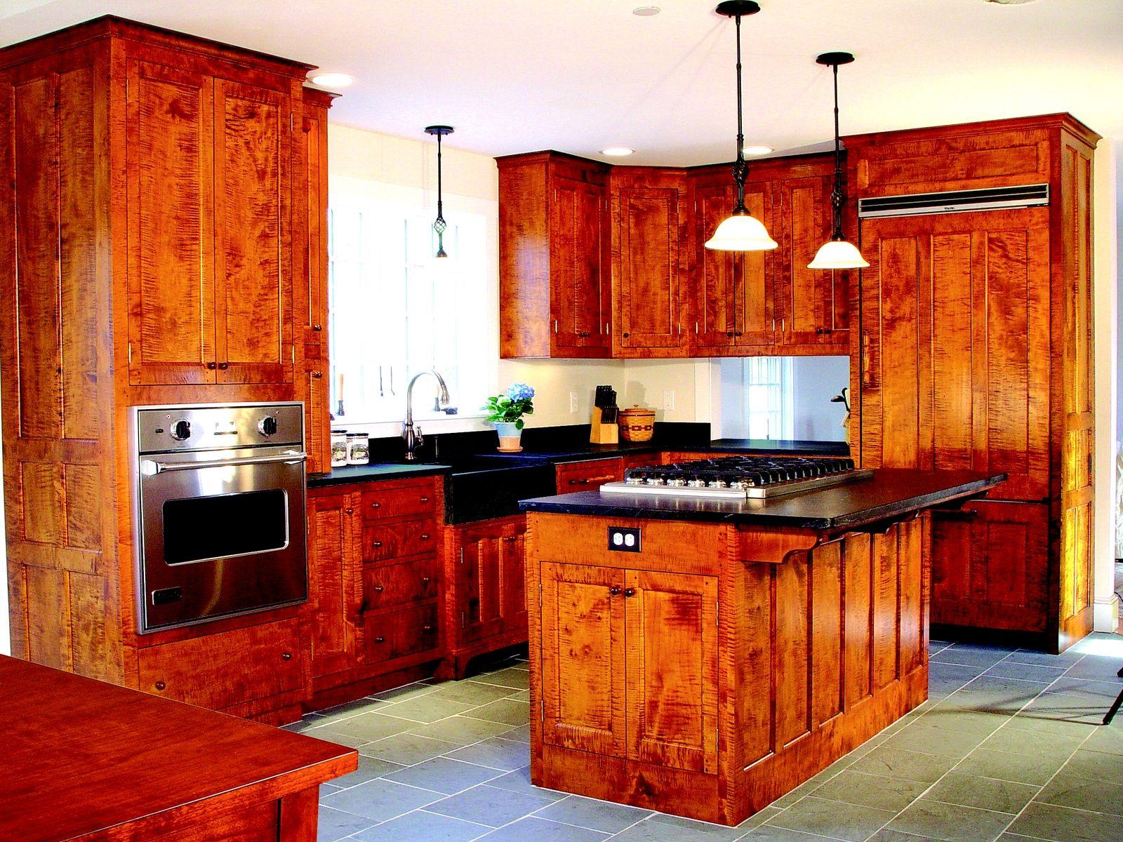 Tiger Maple Cabinets Custom Made