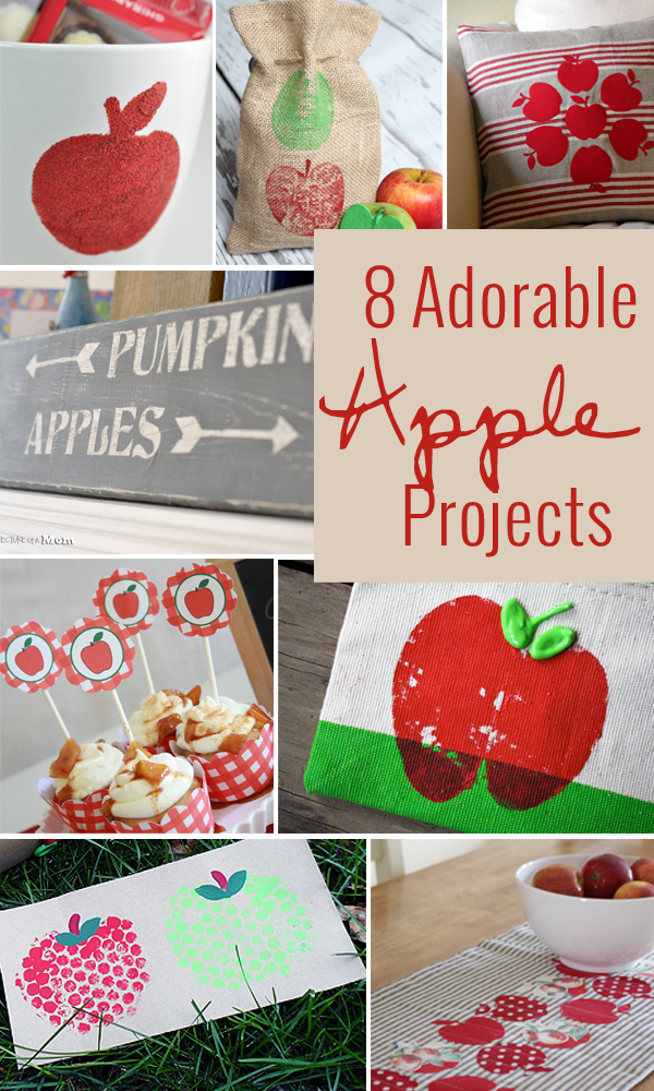 8 adorable apple projects for fall! great roundup of some fun things to do with apples!