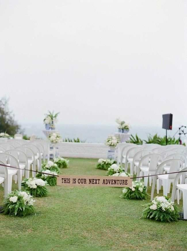 Image Result For Outdoor Ceremony Aisle Signage