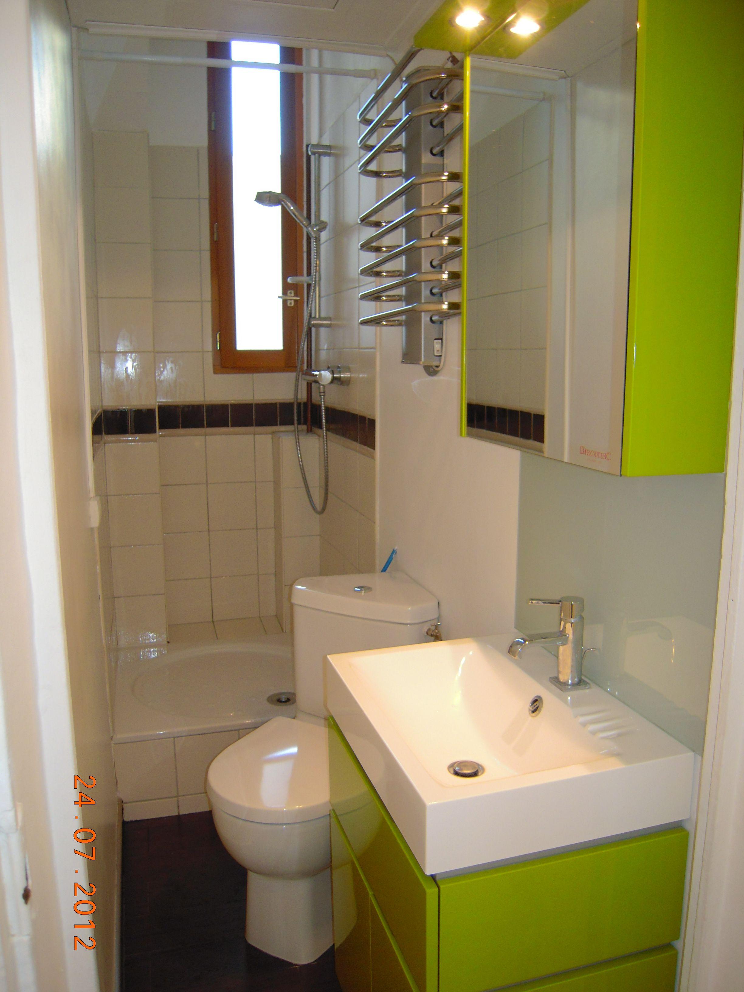Petite minuscule salle de bain paris appart de reve for Salle de bain de reve