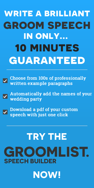 Groom List Speech Builder  Weddings    Grooms Wedding