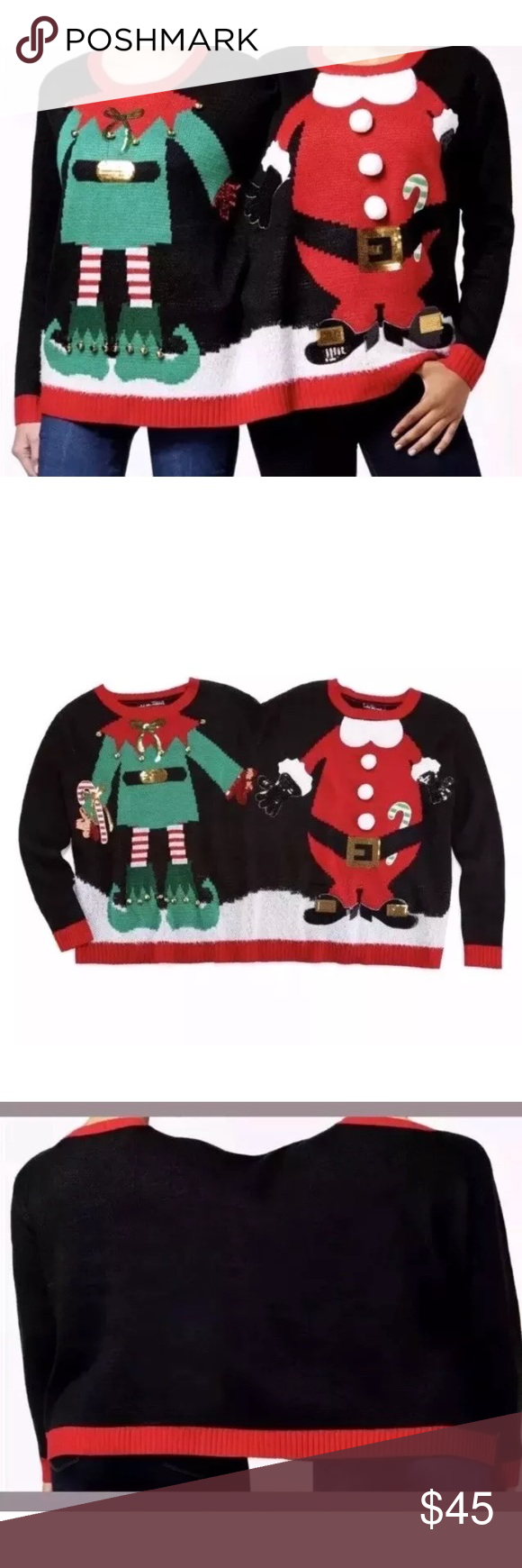 2 Person Ugly Christmas Sweater Nwt My Posh Picks Pinterest