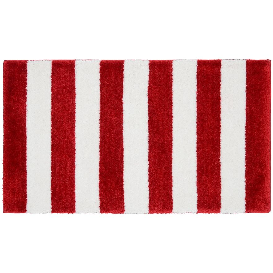 Garland Deco Beach Stripe Bath Rug Bath Rugs Rugs On Carpet