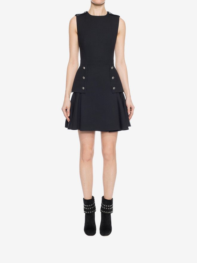 6de7c54970 Shop Women s Military Peplum Dress from the official online store of iconic  fashion designer Alexander McQueen.