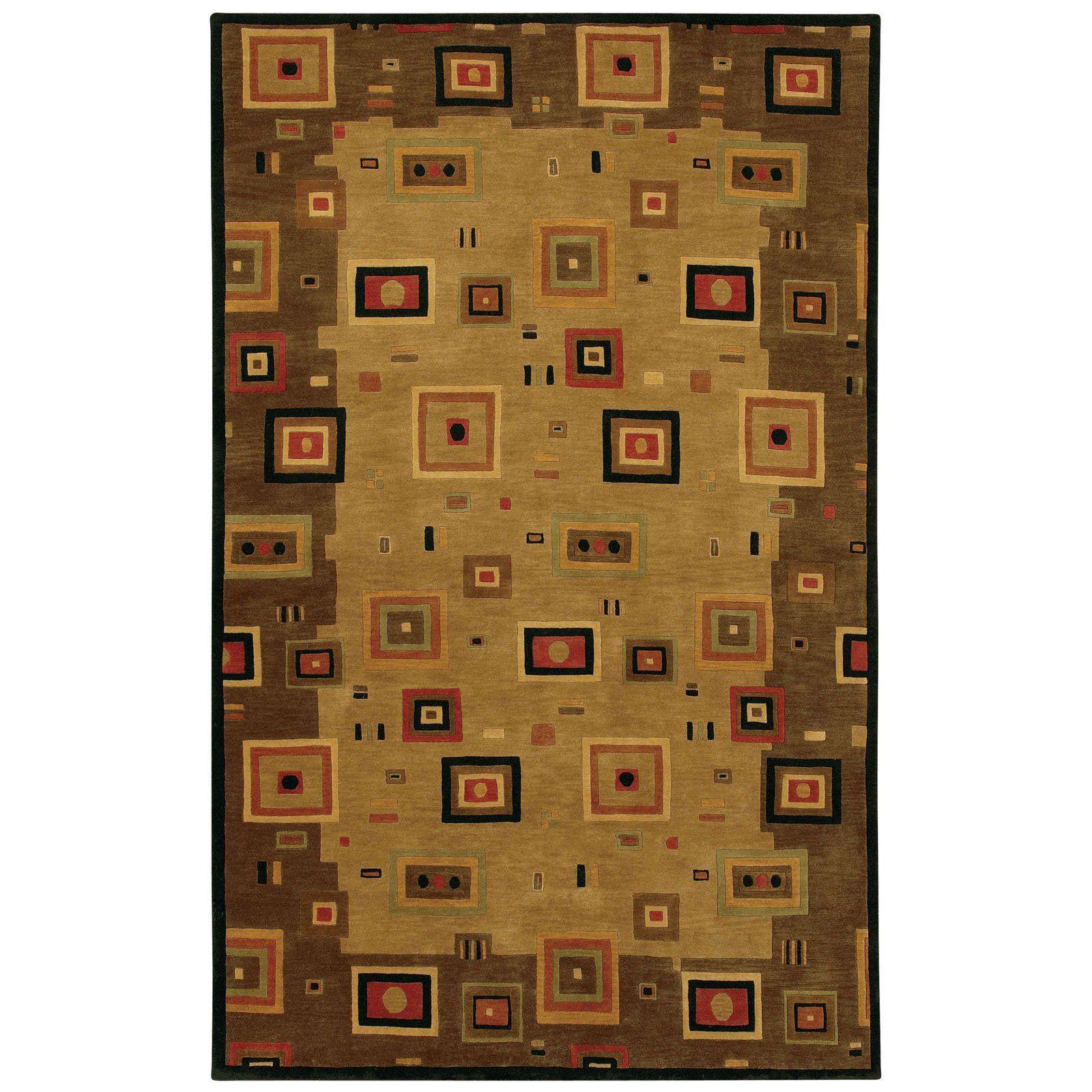 Couristan Pokhara Timberlake Multi Earthtones Area Rug Area Rugs Earth Tones Wool Area Rugs