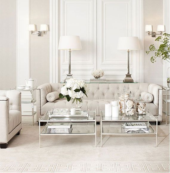 Best Beige White Silver Livingroom By Eichholtz All White 400 x 300