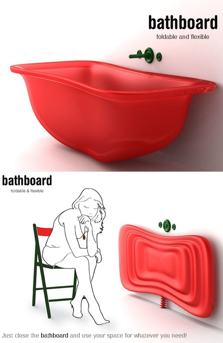 Wonderful Bathboard For Small Spaces. This Unique, Space Saving Bathtub Was Designed  By Sylwia Good Ideas