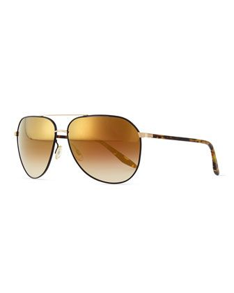 Hawkeye Aviator Sunglasses, Gold by Barton Perreira at Neiman Marcus ... 9911c1d72811