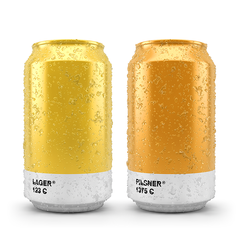 Pantone color shade for a creative beer packaging.