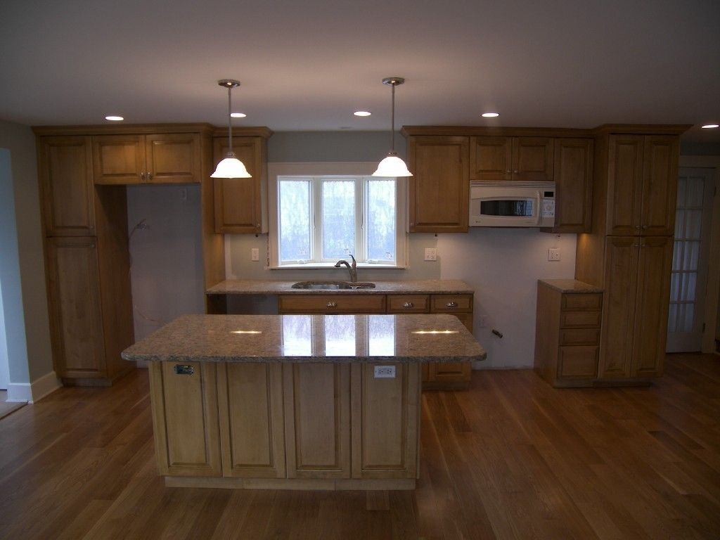 Maple Kitchen Cabinets - granite color with existing ... on Best Granite Color For Maple Cabinets  id=82450