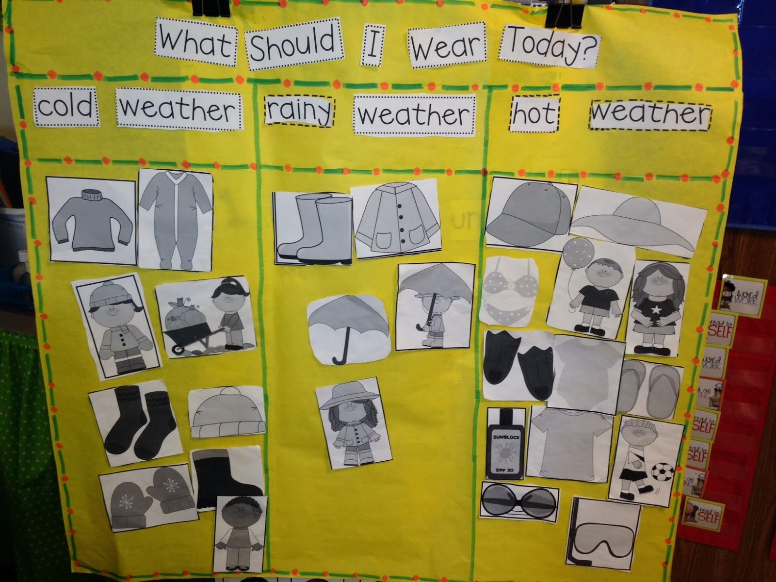 Weather Chart What Should I Wear From Chalk Talk A Kindergarten Blog