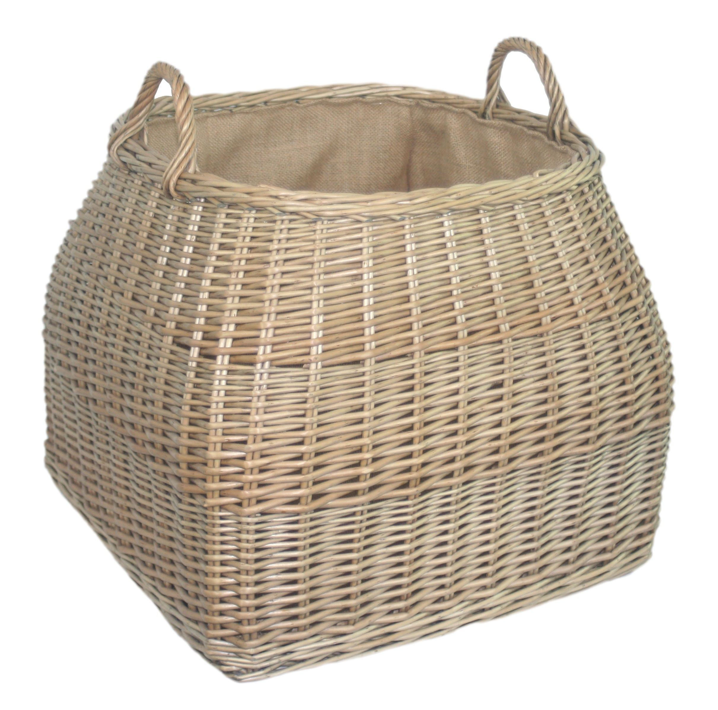 A versatile log basket, made from antique washed willow and ...
