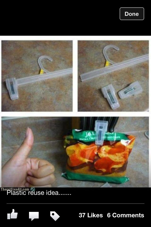 Homemade chip clips