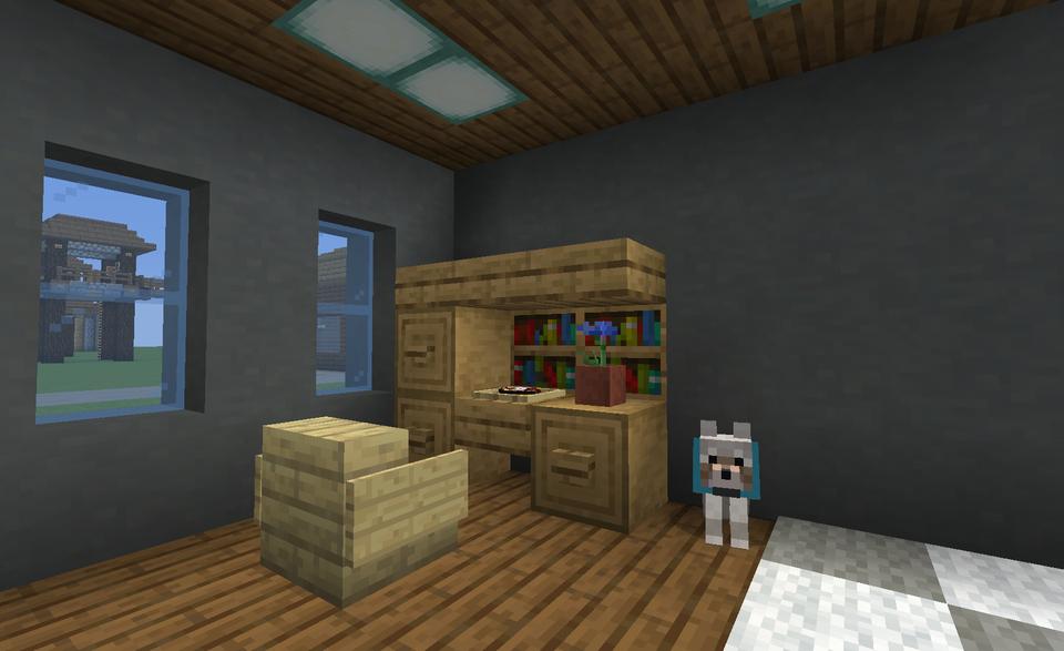 Desk Idea Minecraft Minecraft Minecraft Room Minecraft Stores