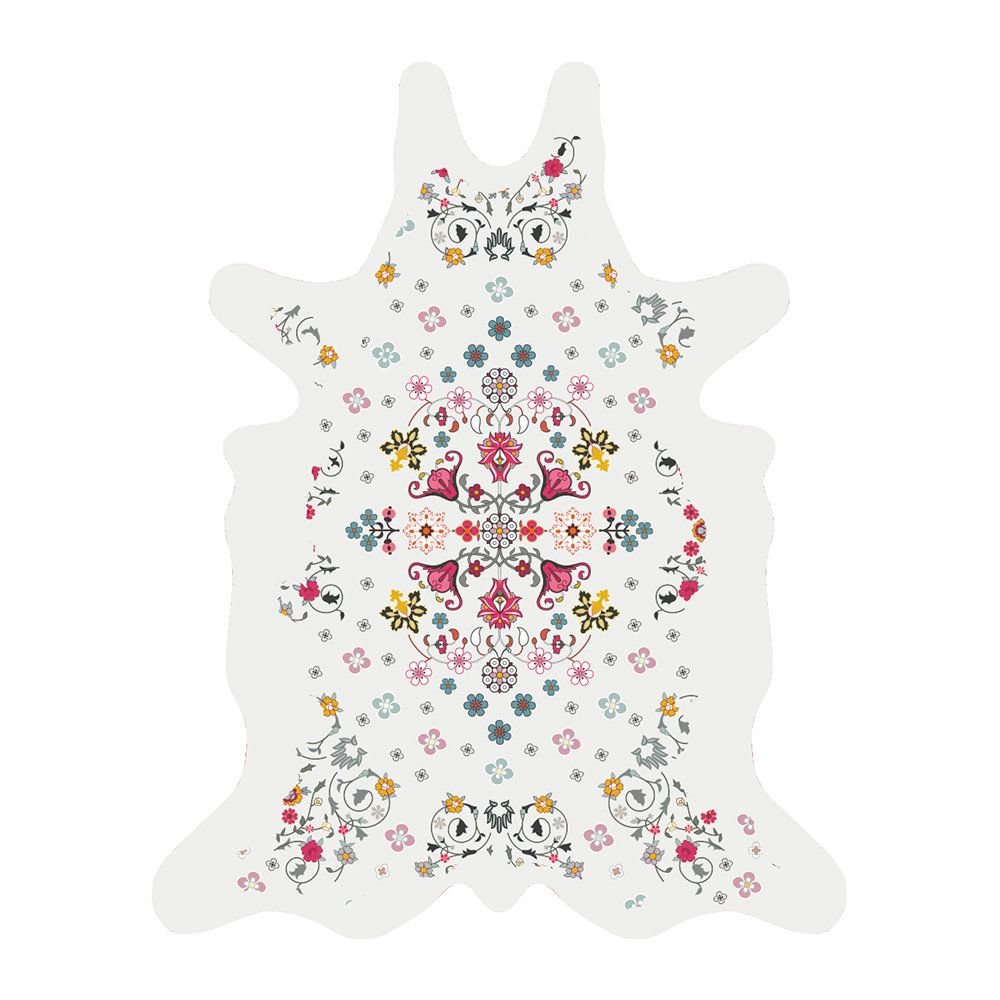 Buy the Flower Power Collection Vinyl Floor Mat White