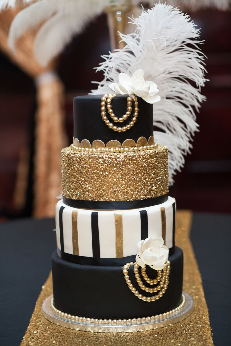 Gatsby Themed Cake Great Wedding Party