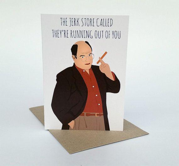 Jerk Store Greeting Card seinfeld card seinfeld Blank Inside  seinfeld greeting card