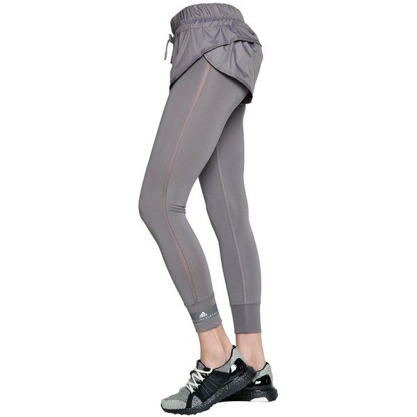 online store 54870 0b6ba Adidas By Stella Mccartney Women Climalite Shorts W  Leggings ( 120) ❤  liked on Polyvore featuring activewear, activewear shorts, adidas  activewear, adidas ...