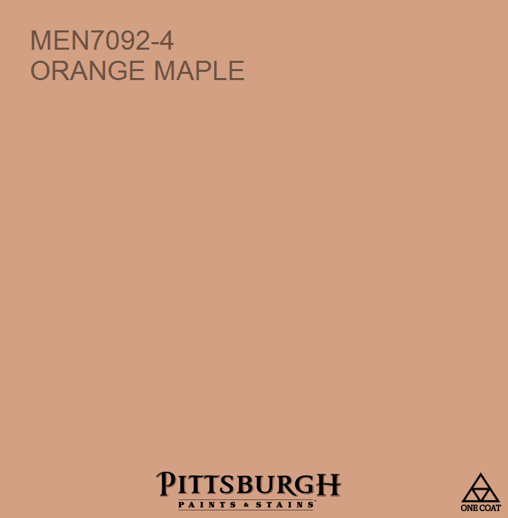 Orange Maple Men7092 4 Ppg Paint Colors Paint Colors Orange Paint Colors