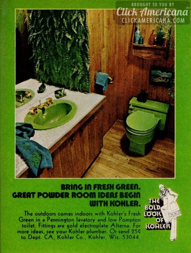 How to create super-colorful powder rooms (1972 | Powder room and Room