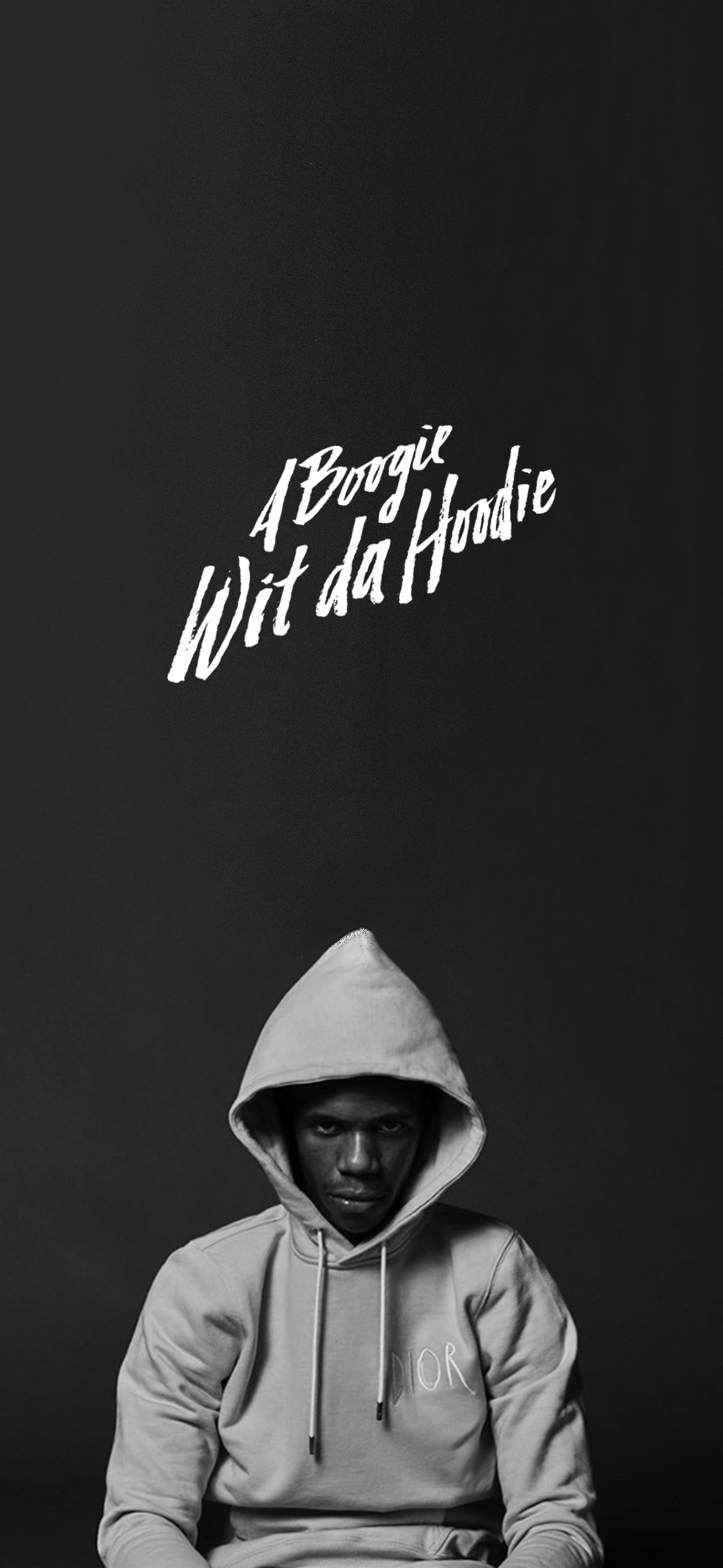 A Boogie Wit Da Hoodie Wallpaper Boogie Wit Da Hoodie Black And White Aesthetic Black And White Picture Wall