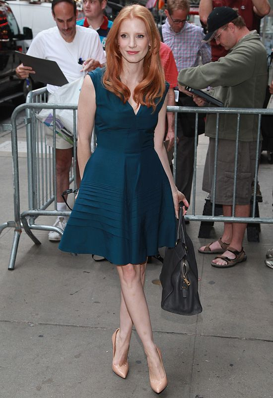 Jessica Chastain in YSL.