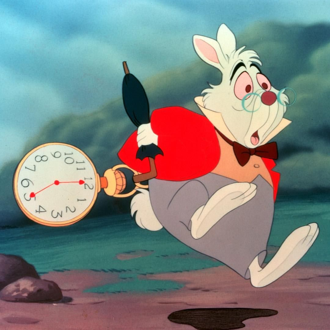 "White Rabbit Alice In Wonderland ""I'm late! I'm late! For a very ..."