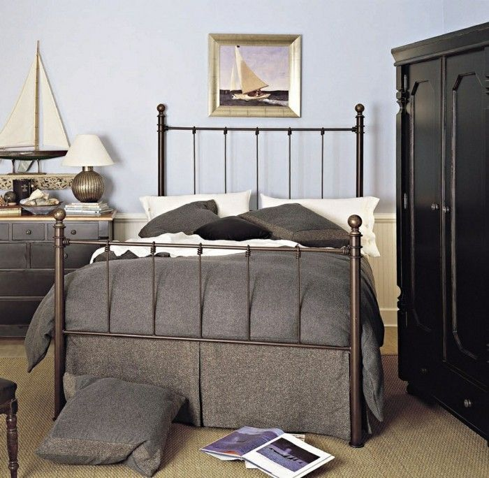 schlafzimmer deko ideen wanddeko accessoires dunkle möbel helle - schlafzimmer deko bilder