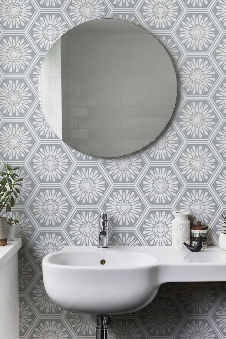 Hex, Wallpaper, LF1059 | Pinterest | Wallpaper, Bathroom wallpaper ...
