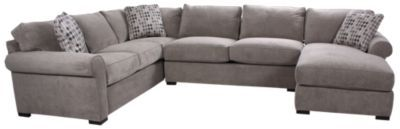 Homemakers Furniture: 3 Piece Sectional: Jonathan Louis: Living Room: Sectionals