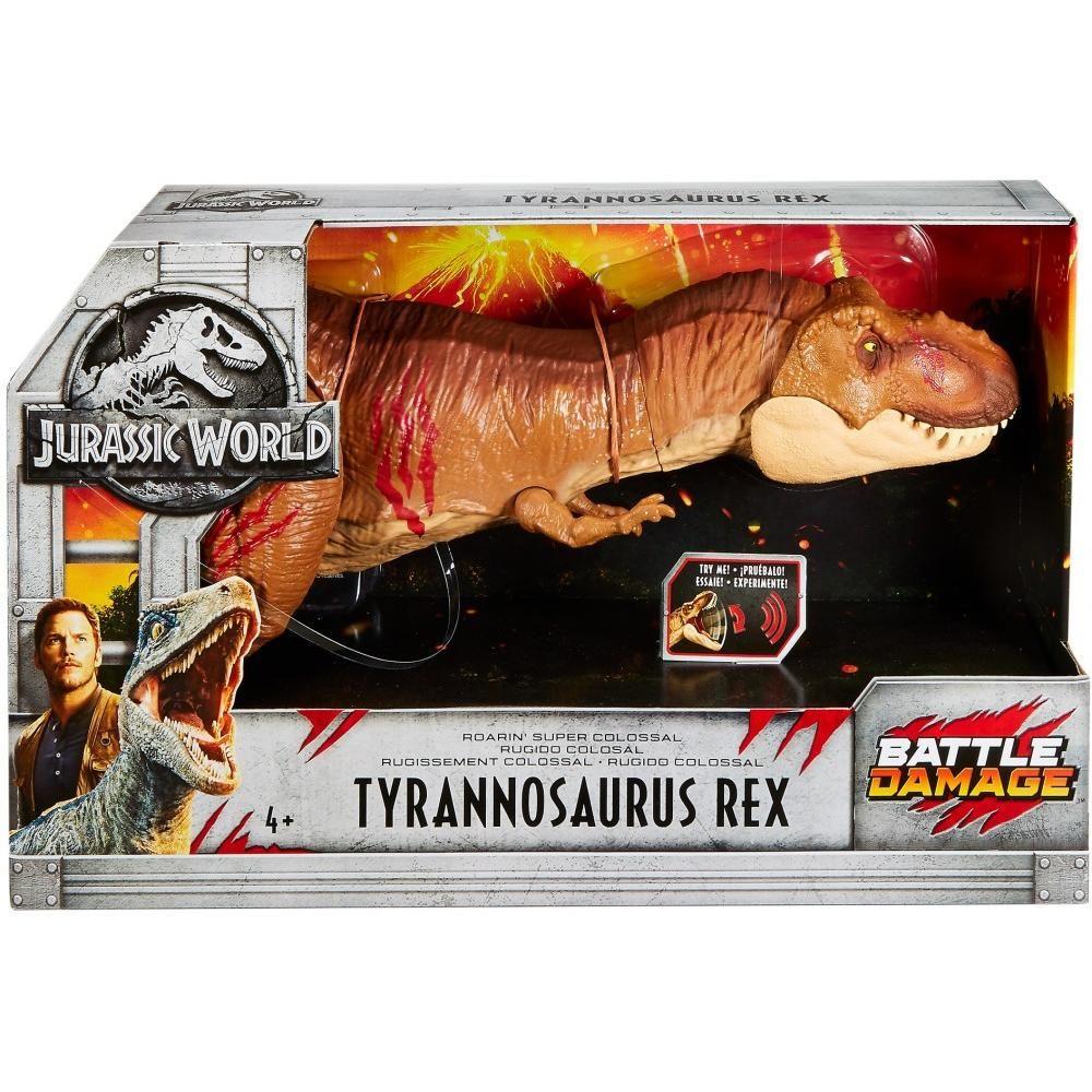 Jurassic World Tyrannosaurus Rex Battle Damage Roarin/' Super Colossal Figure NEW