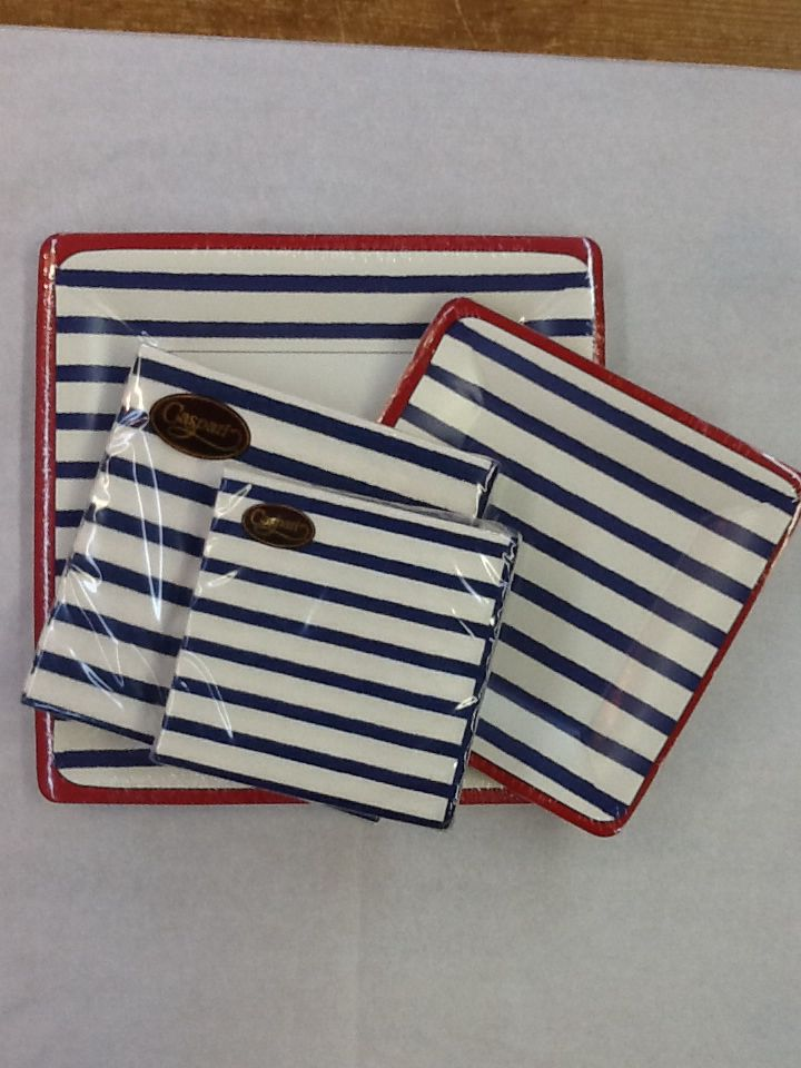 Red White & Blue Plates and Napkins