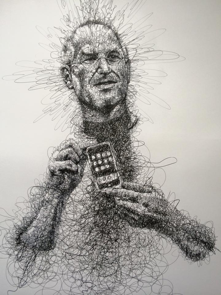 Scribbling steve jobs album on imgur · pencil sketchingpencil