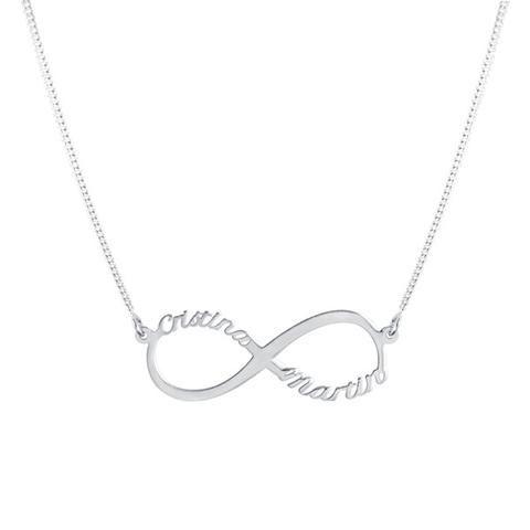 6e3118c5a0a3 Collar Infinito Nombre Plata - singularu