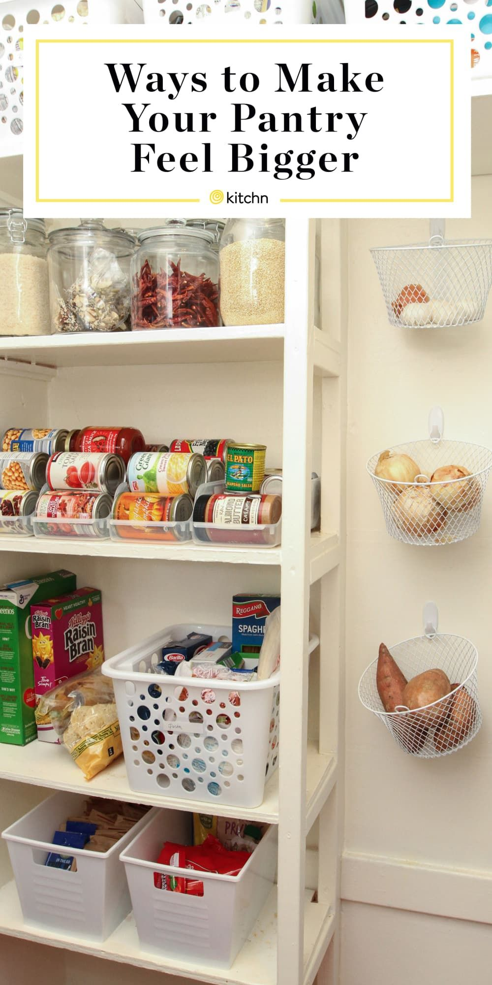 5 Brilliant Little Ways To Make Your Pantry Any Pantry Feel Bigger Than It Is Pantry Organization Dollar Store Diy Pantry Organization Small Pantry Organization