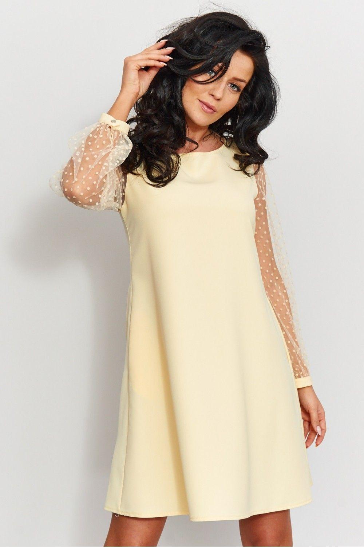 70df8ea455 Sukienka tiulowe rękawki. Elegancka