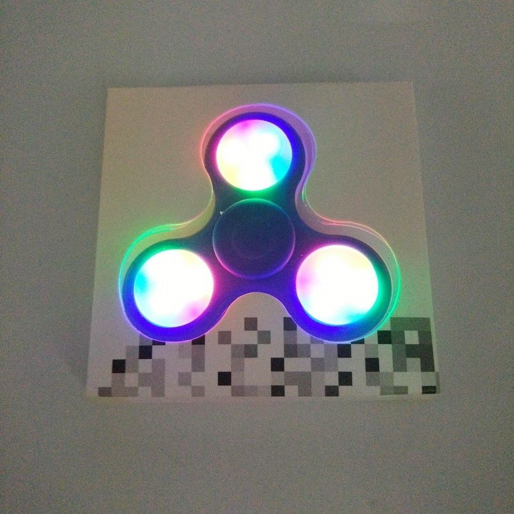 Anti Stress Toy Color Changing Led Fidget Finger Spinner Newest