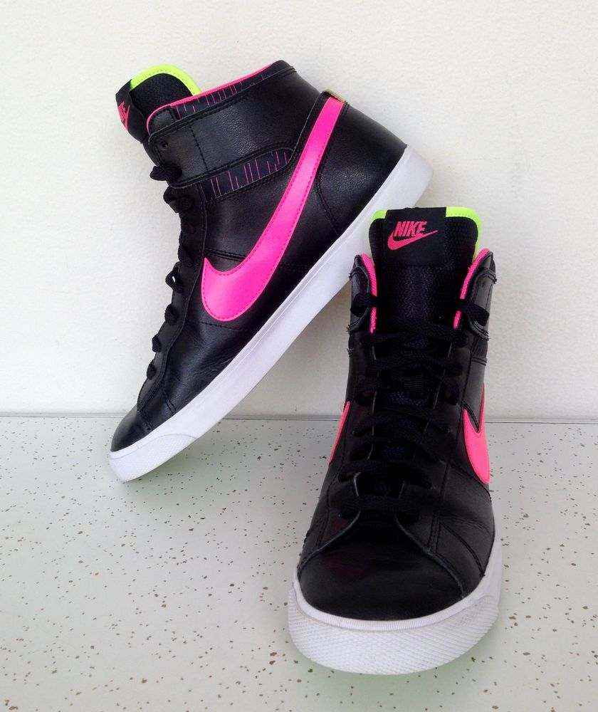 black and pink nike high tops Limit